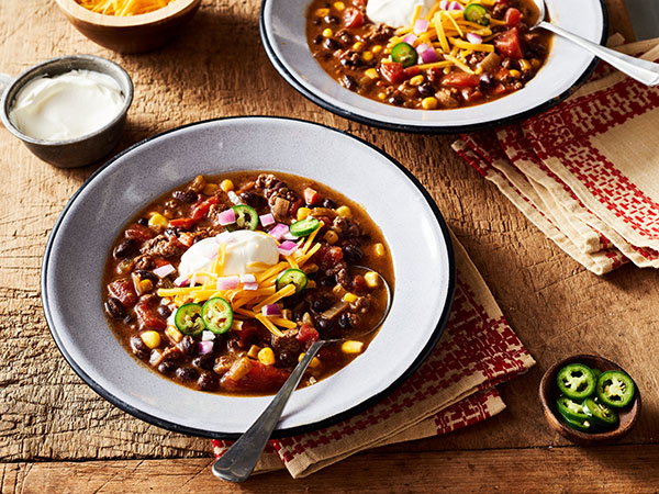 Venison and Black Bean Chili