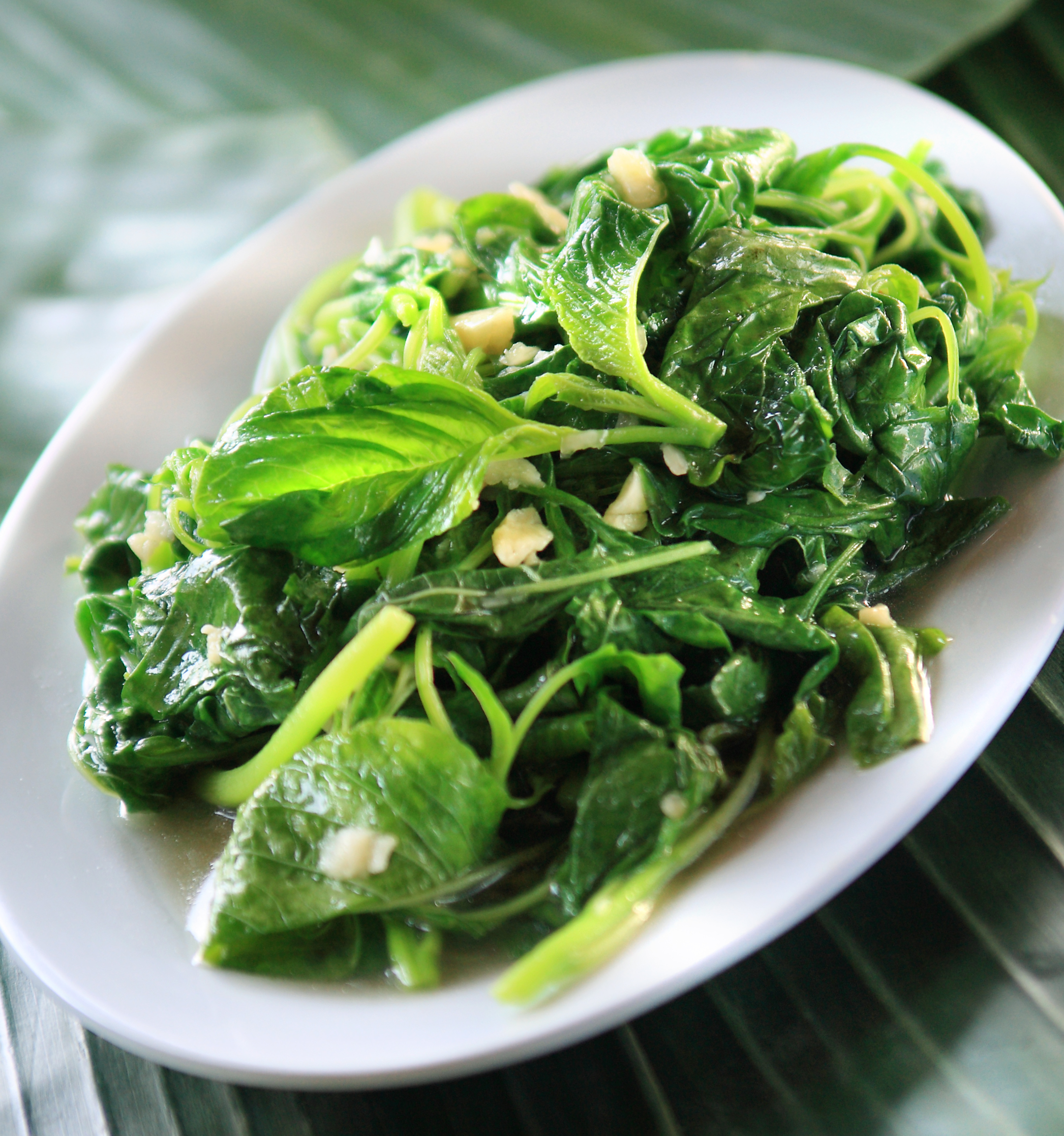 Sauteed Spinach with Ginger